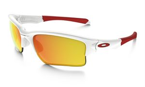 Oakley Quarter Jacket (Youth Fit)  Polished White/ Fire Iridium
