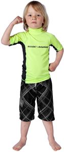 kids cube rash vest yellow